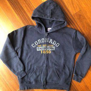 Coronado California Full Zip Kids Sweatshirt